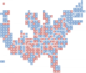 Cartograph by districts of 111th US House of Representatives